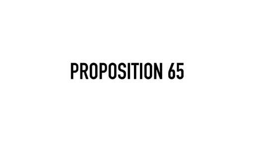 Proposition 65 from California