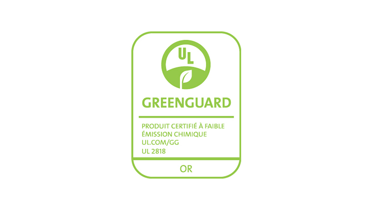 Certification GREENGUARD Or
