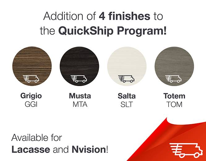 QuickShip finishes